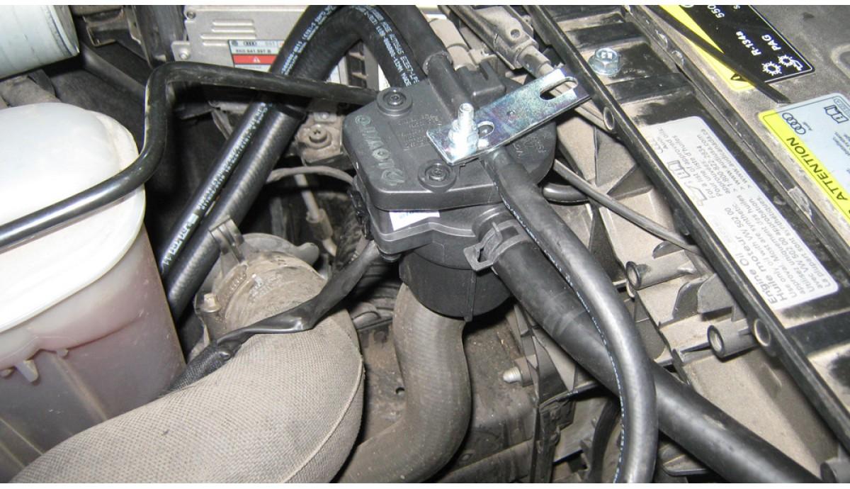Установка ГБО на Audi Q5 2,0 TFSI , 2012