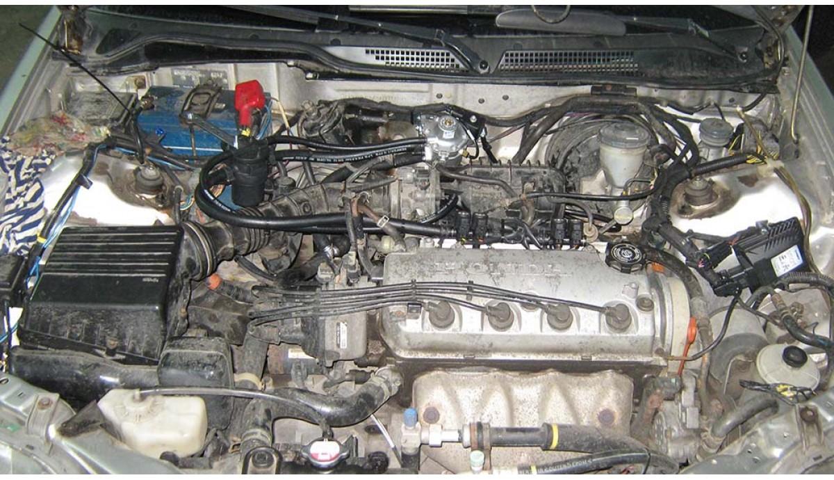 Установка ГБО на Honda Civic 1.4 2007