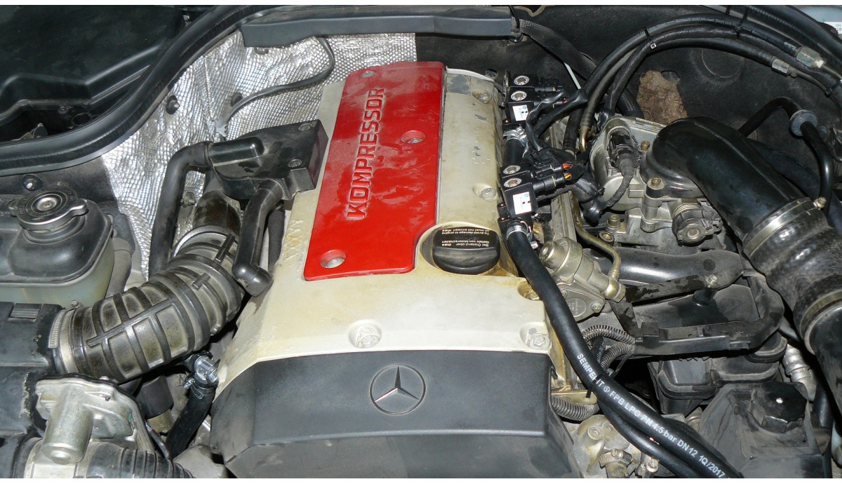 Установка ГБО на Mercedes Benz С200 kompressor
