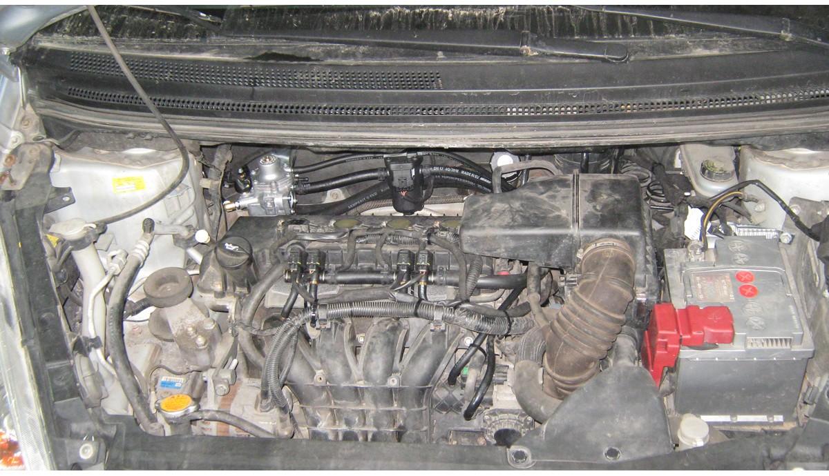 Установка ГБО на Mitsubishi Colt 1.3 2008