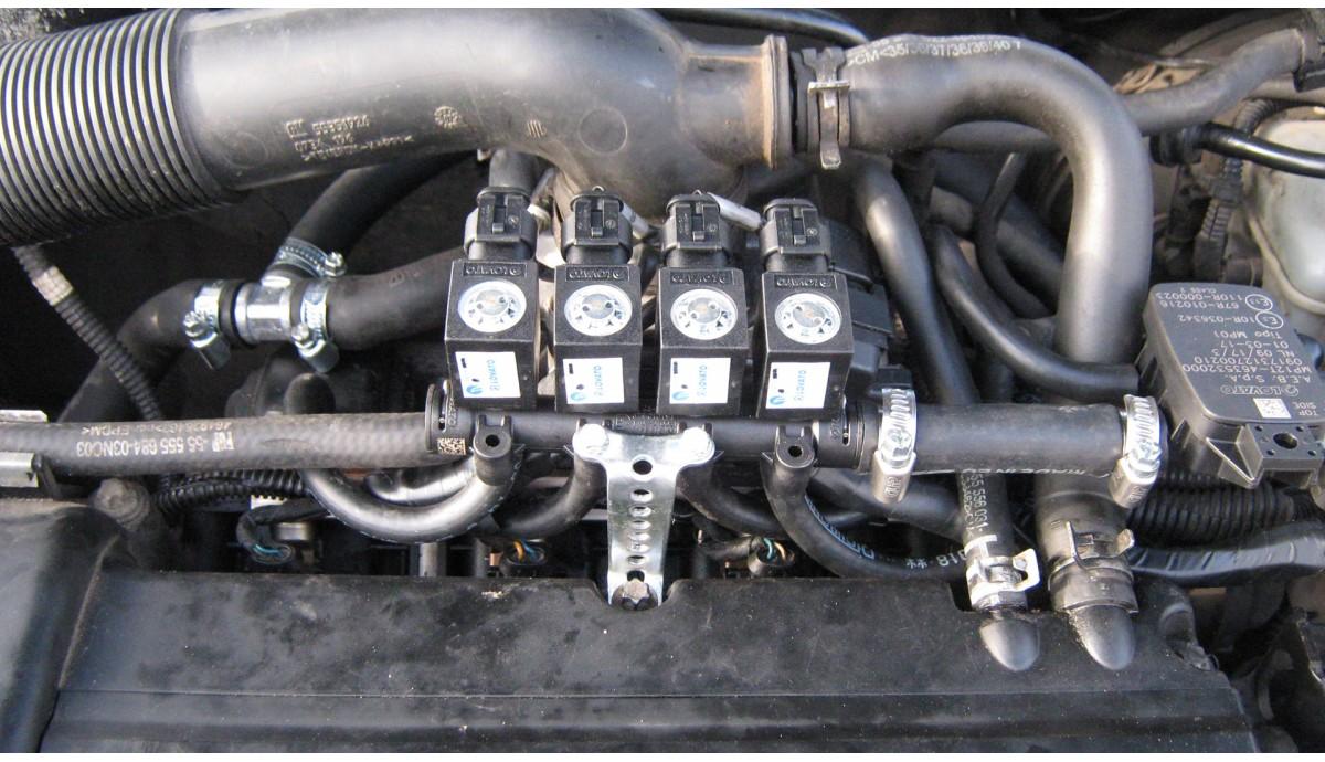 Установка ГБО на Opel Astra 1.4 2008