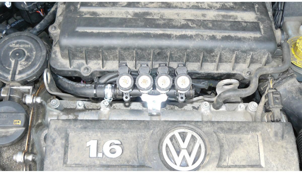 Установка ГБО на Volkswagen Polo 1.6 2013