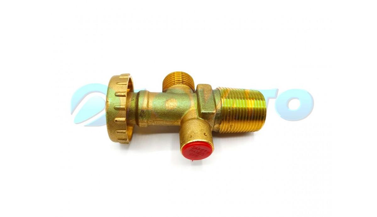 Вентиль бытовой ( с предохранительным клапаном )